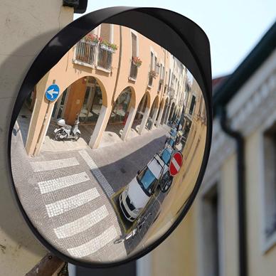 para la seguridad vial y la seguridad tienda con soporte de pared ajustable irrompible JCM-22i Convexo espejo tr/áfico de di/ámetro 22 cm